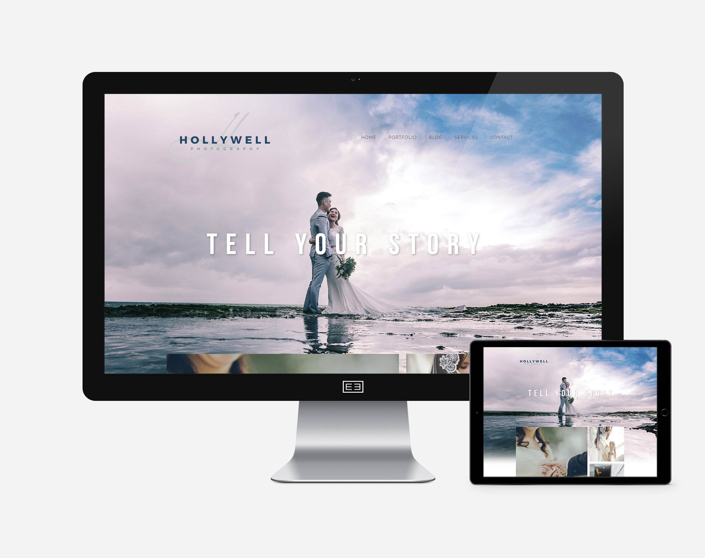 Wordpress Photography Site1 Mockup