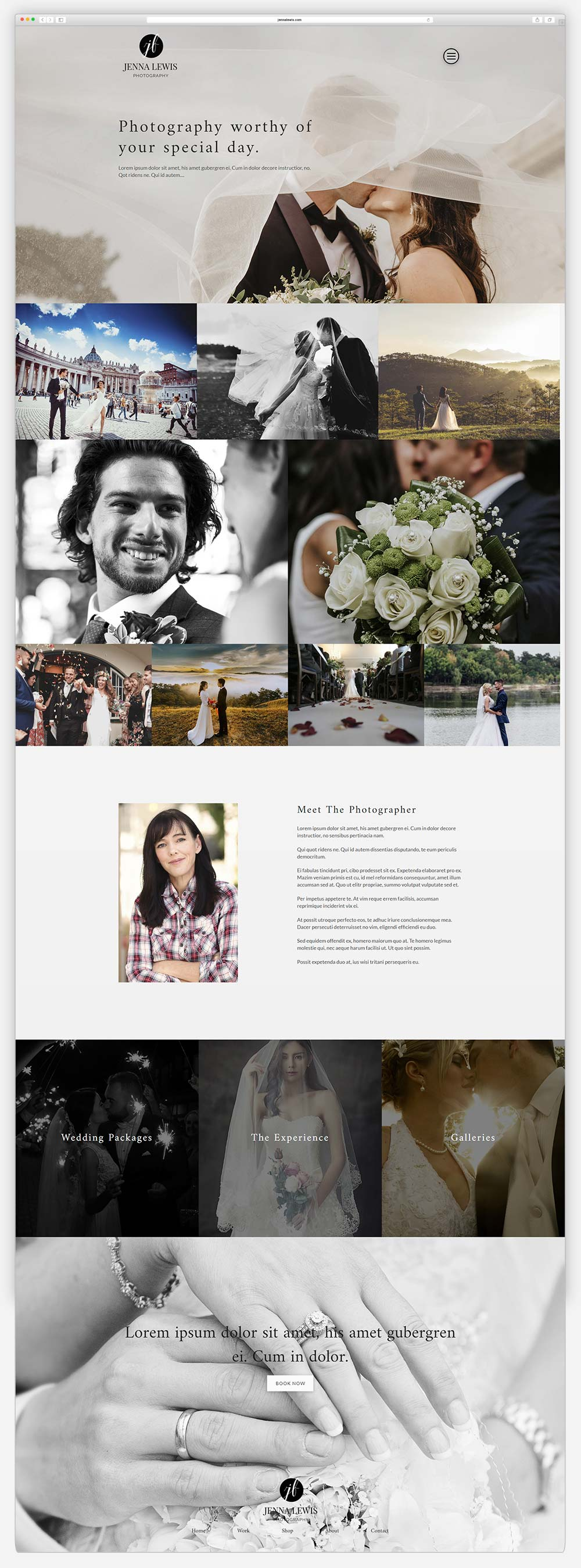Wordpress Photography Site2 Browser