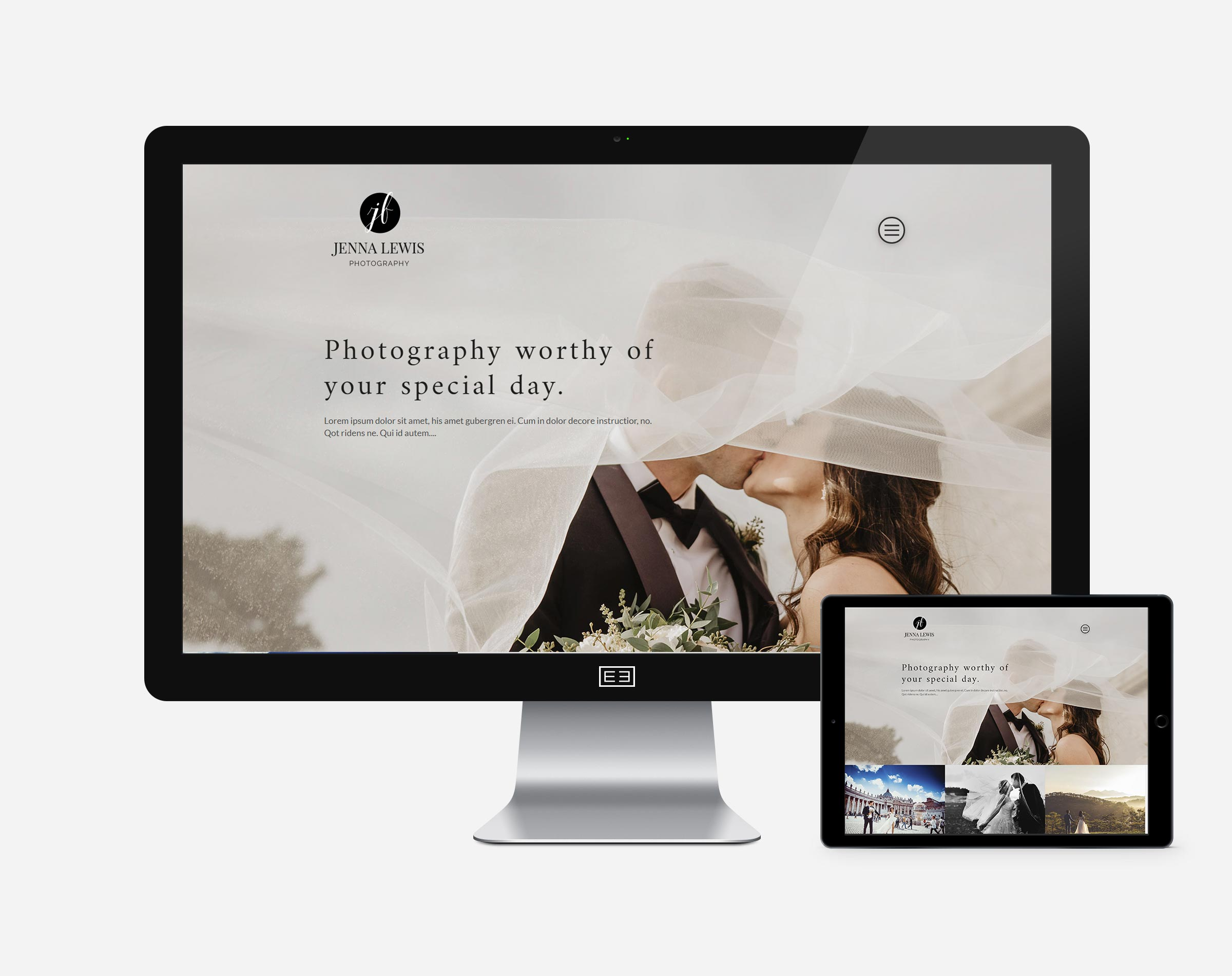 Wordpress Photography Site2 Mockup