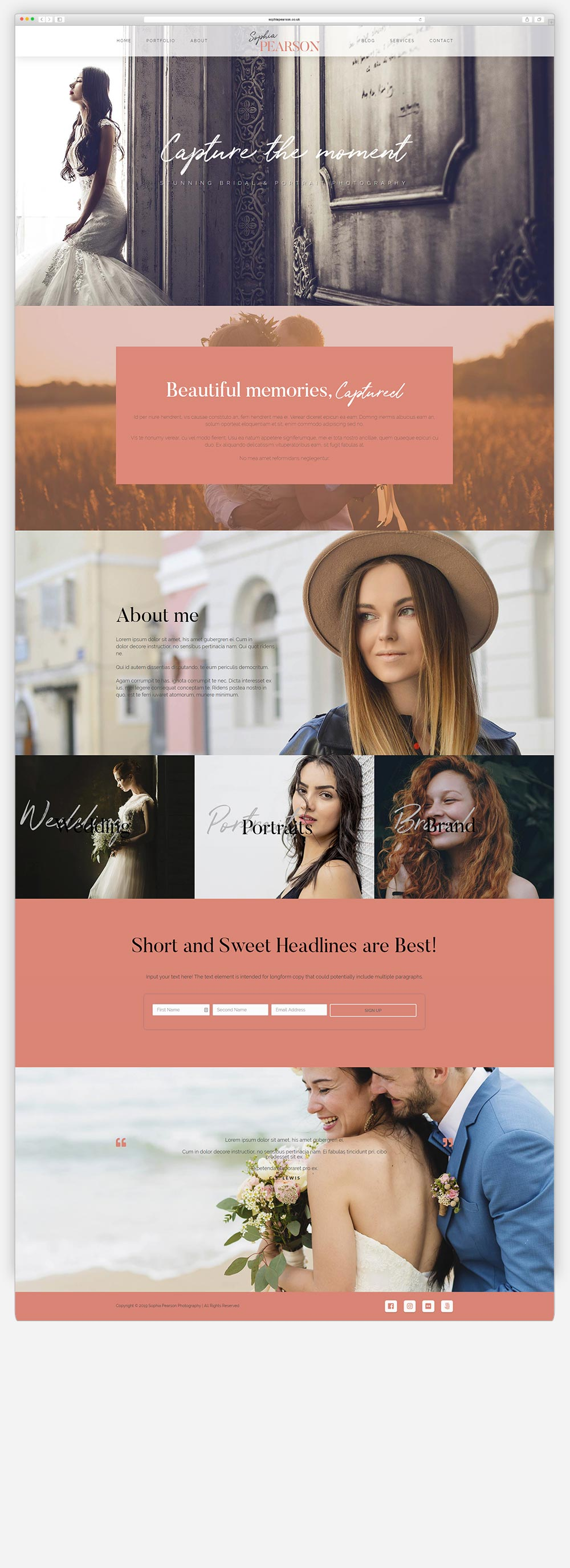 Wordpress Photography Site3 Mockup