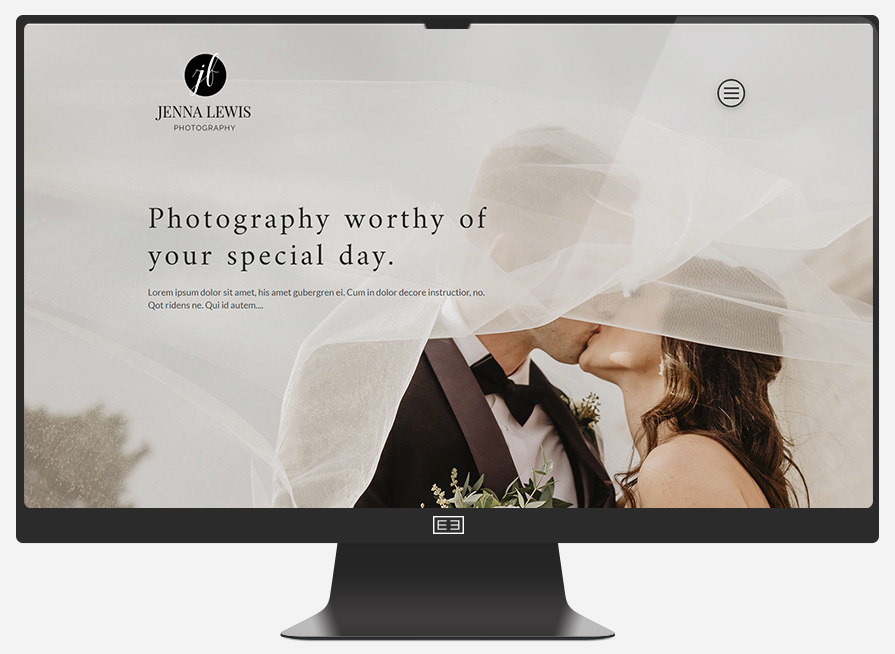 Photographer Website Example 2